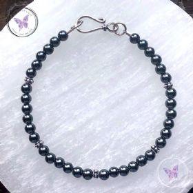 Hematite Bracelet With Hook Clasp